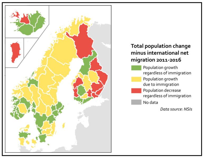 Norden befolkningsökning