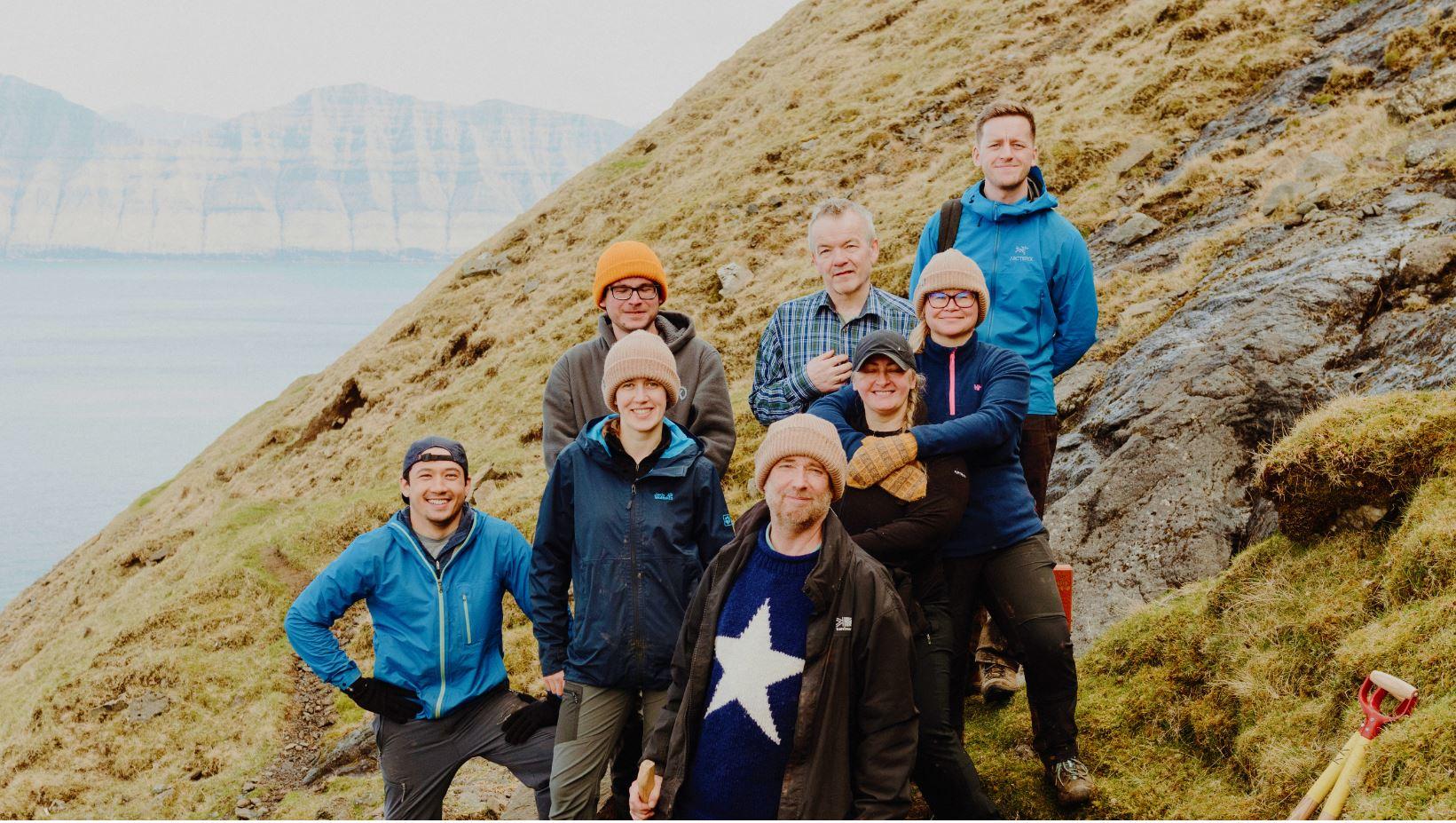 Färöarna gruppbild arbete