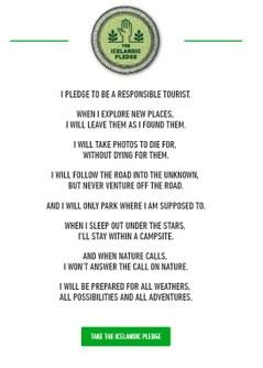 Icelandic pledge