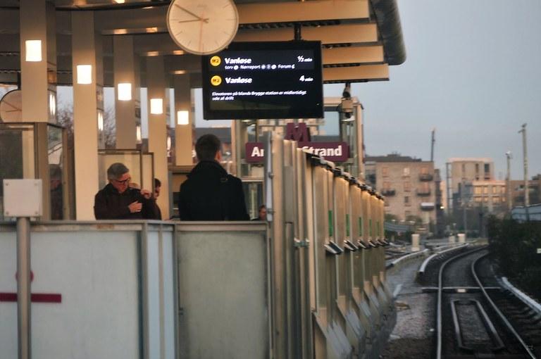 Tågstation i Köpenhamn med skydd