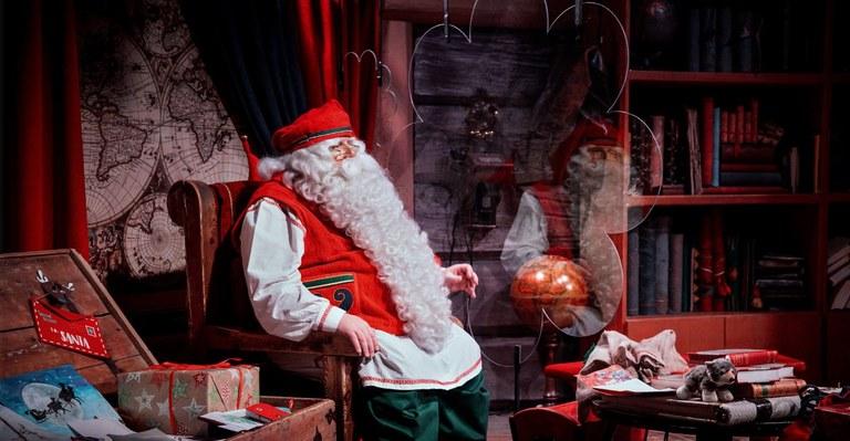 Jultomten i Rovaniemi får sitta mycket ensam i år